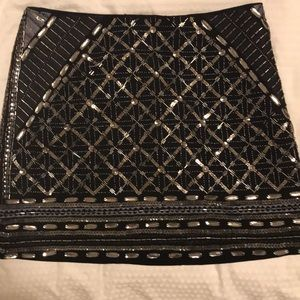 Club Monaco Beaded Mini Skirt (Size 4)